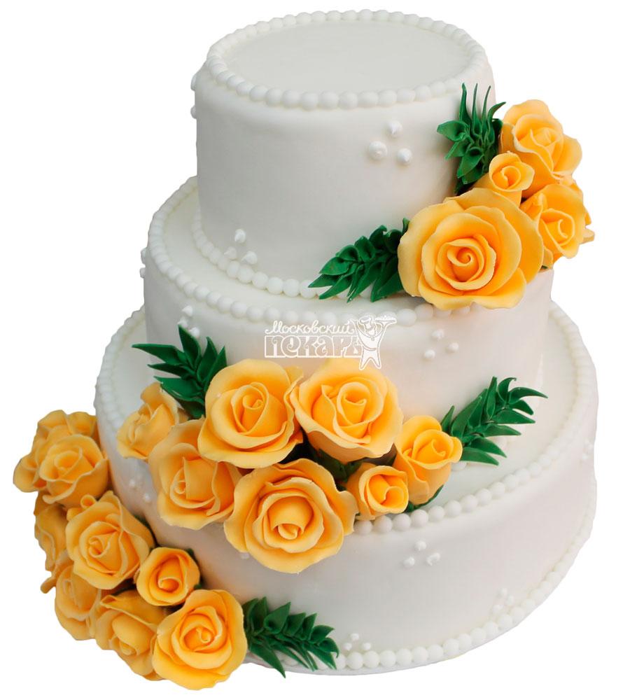 №278 Свадебный торт классический