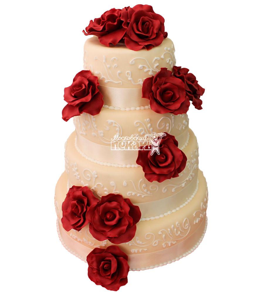 №318 Свадебный торт классический