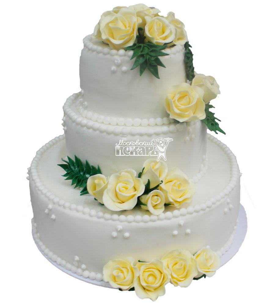 №261 Свадебный торт классический