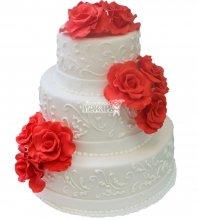 №285 Свадебный торт классический