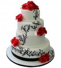 №240 Свадебный торт классический