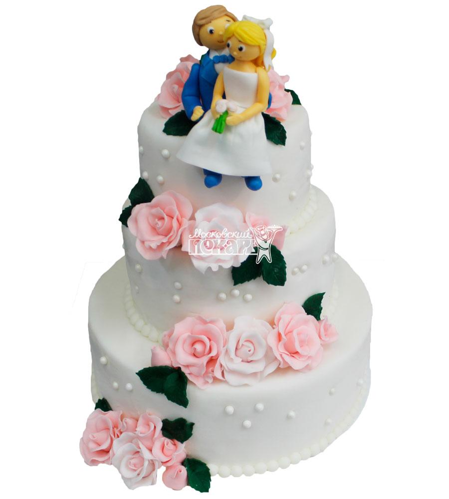 №255 Свадебный торт классический