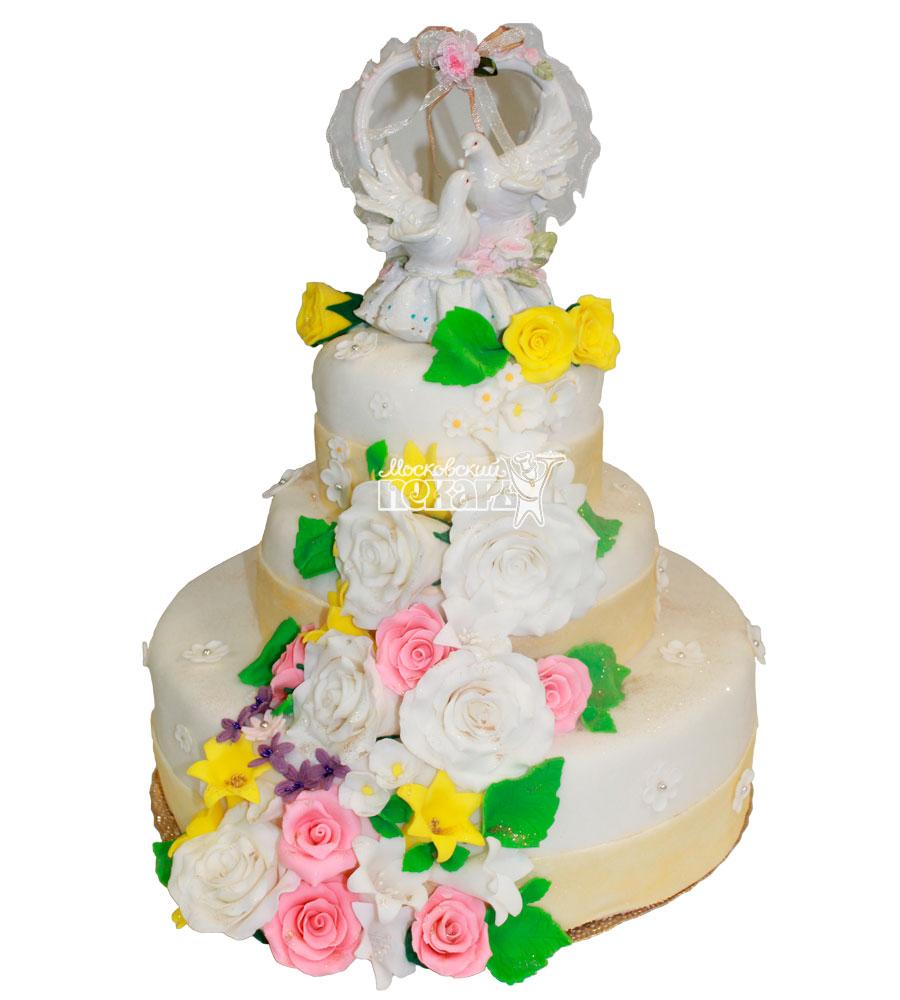 №266 Свадебный торт классический