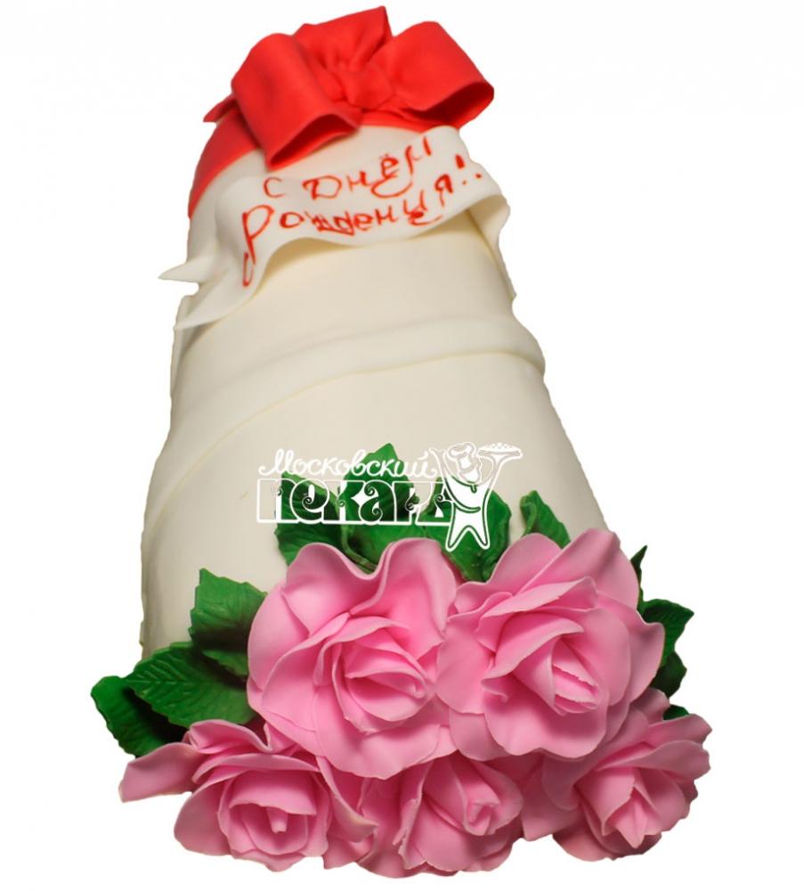 №475 3D Торт на день рождения цветы