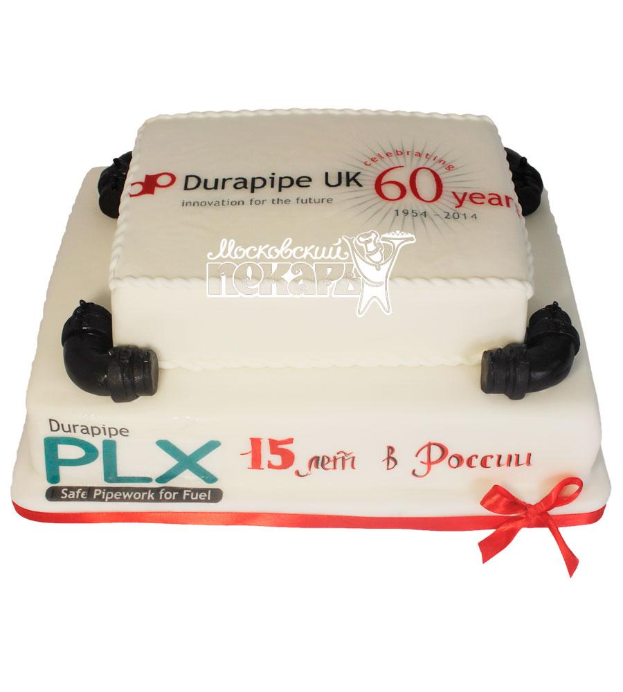 №481 Корпоративный торт для durapipe