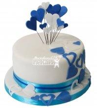 №482 Торт на день рождения с сердцем