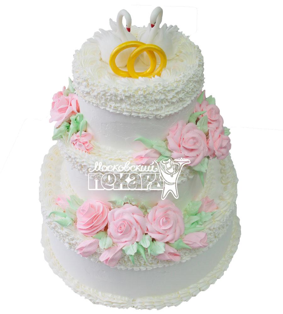 №415 Свадебный торт со сливками