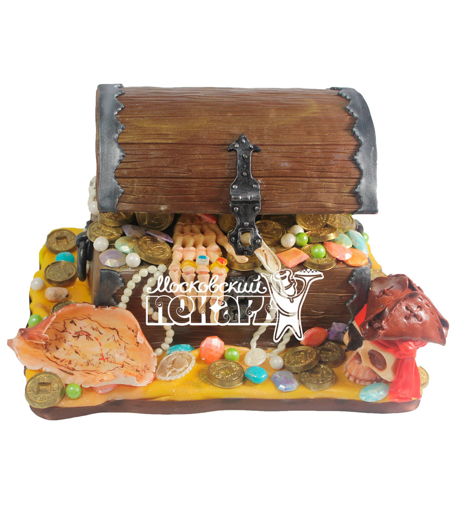 №510 3D Торт сундук