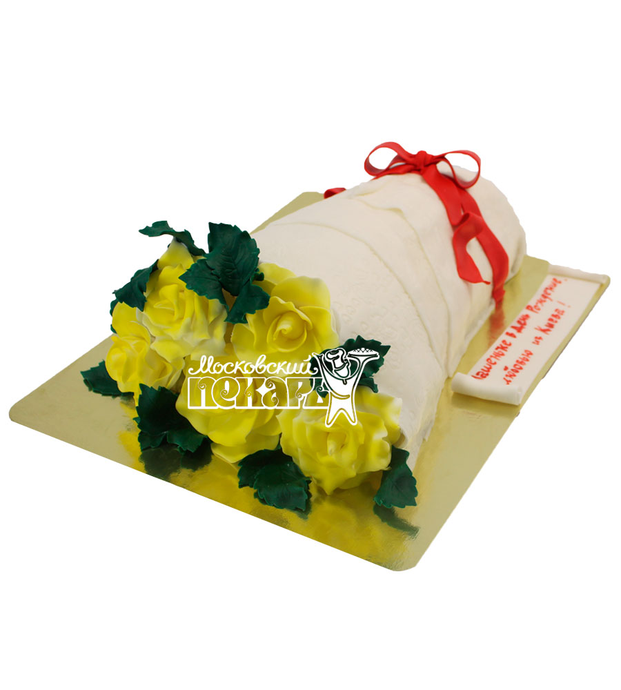 №515 3D Торт цветы