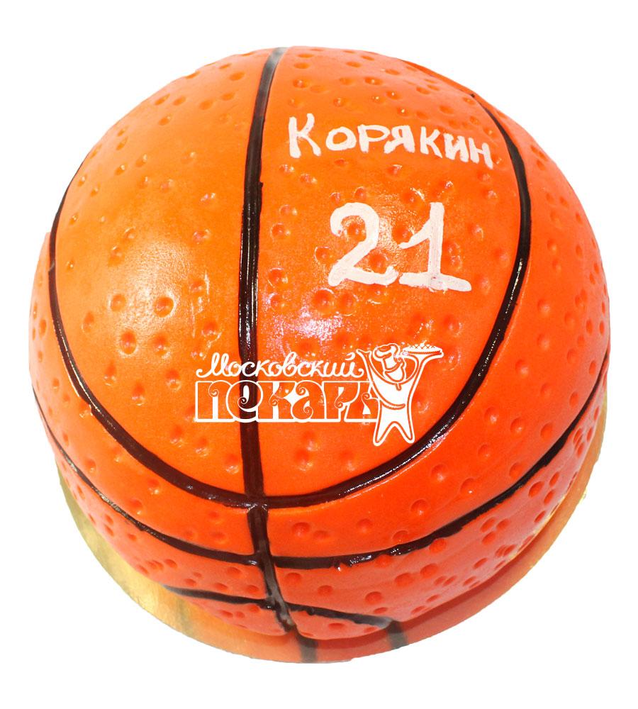 №526 3D Торт баскетбольный мяч