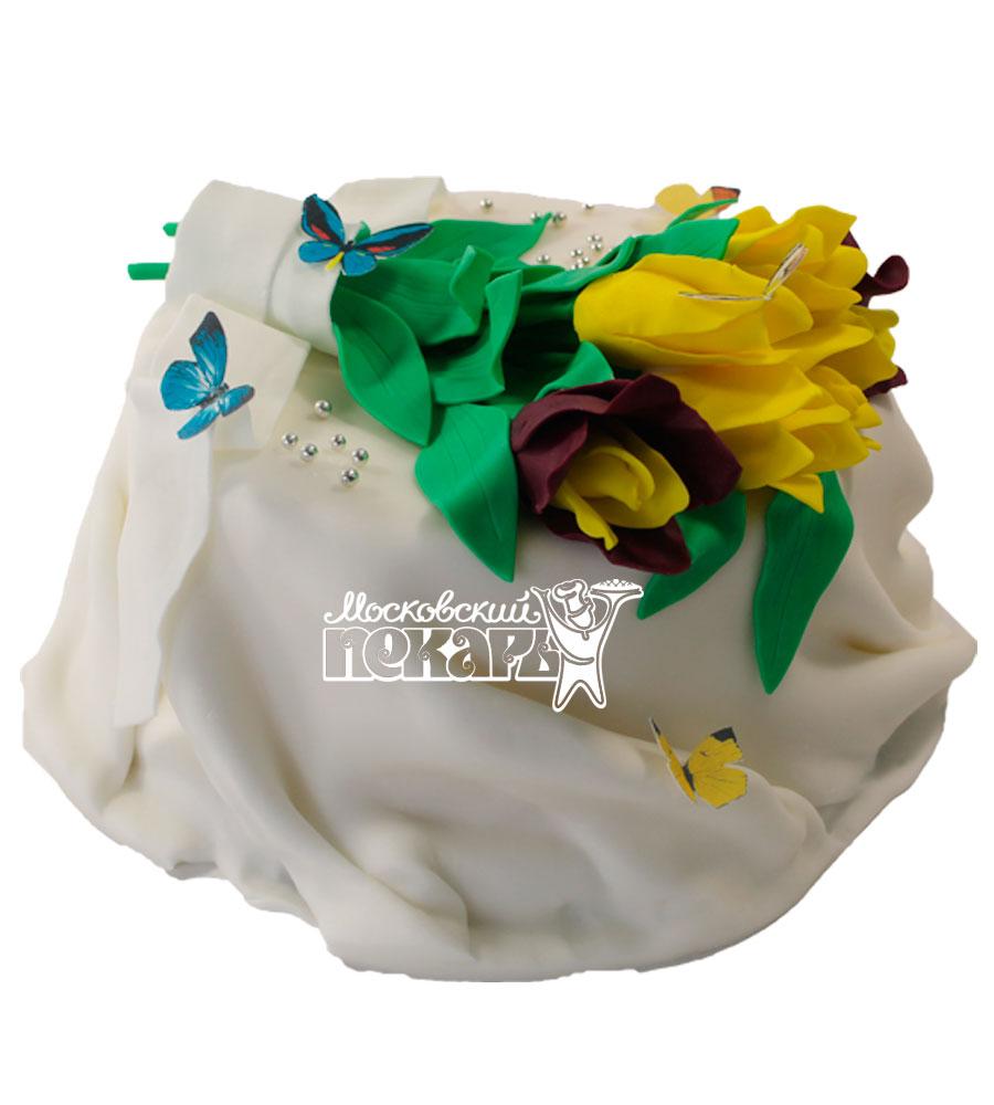 №529 Торт с цветами