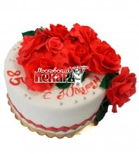 №536 Торт с цветами