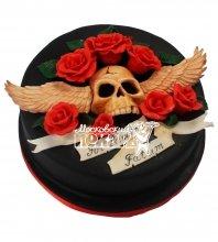№538 Торт с черепом
