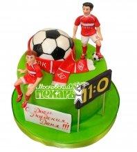 №555 Торт с футболистами