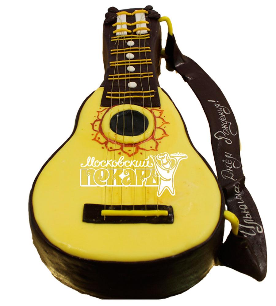 №558 3D Торт гитара