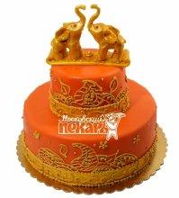 №586 Свадебный торт со слонами