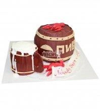 №599 3D Торт пиво и раки