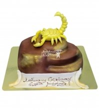 №603 Торт со скорпионом