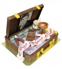 №606 Торт чемодан с деньгами