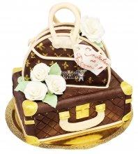 №607 Торт чемодан и сумочка