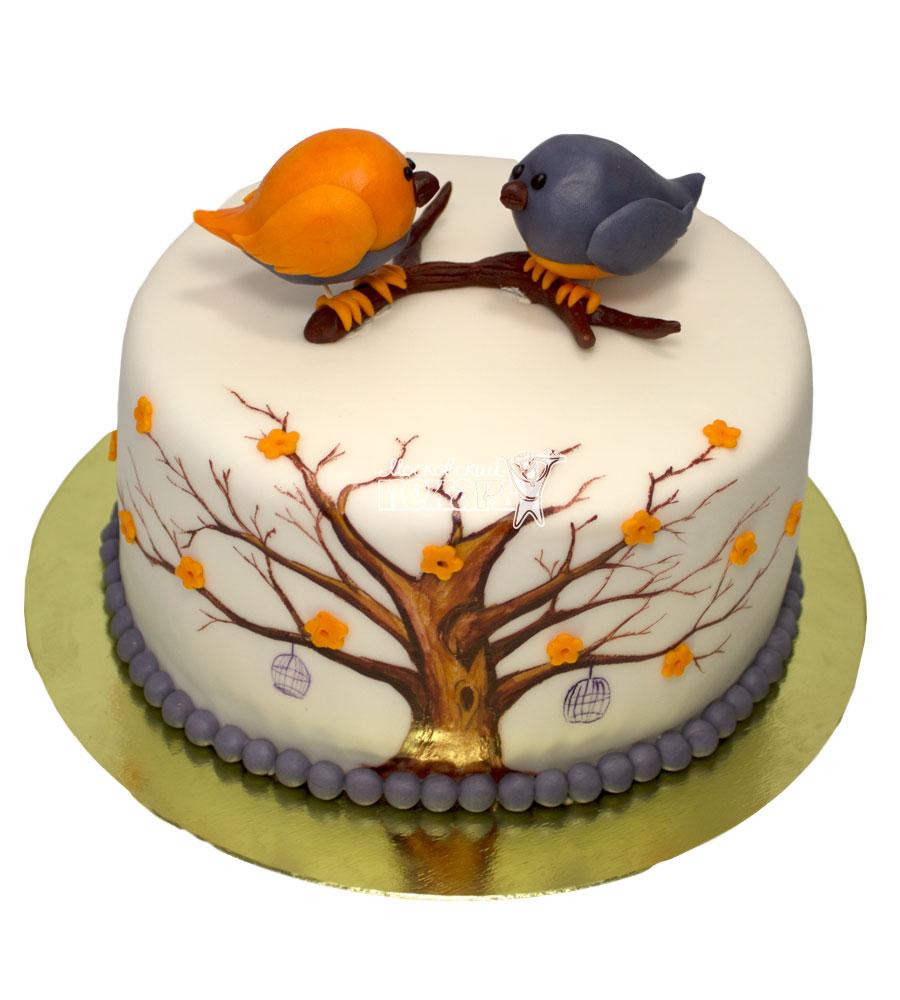 №634 Торт с птичками