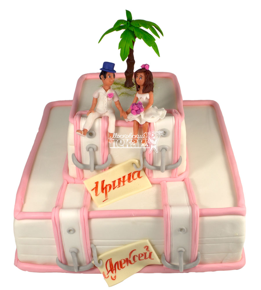 №635 Свадебный торт с чемоданом