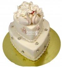 №640 Небольшой свадебный торт