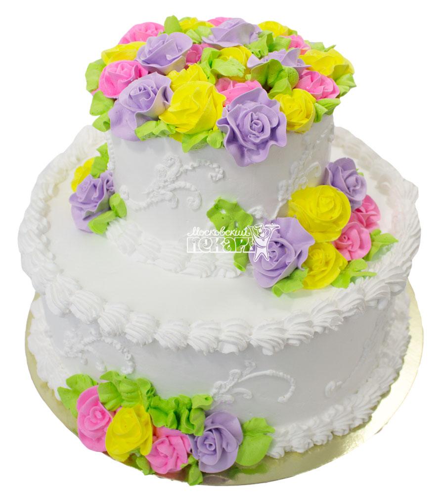 №642 Свадебный торт классический