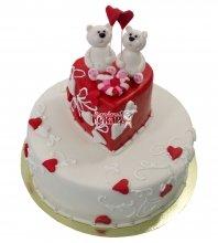 №645 Свадебный торт с мишками