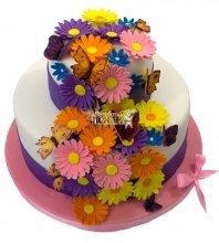 №647 Торт с цветами