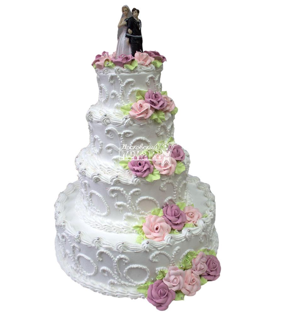 №649 Свадебный торт классический