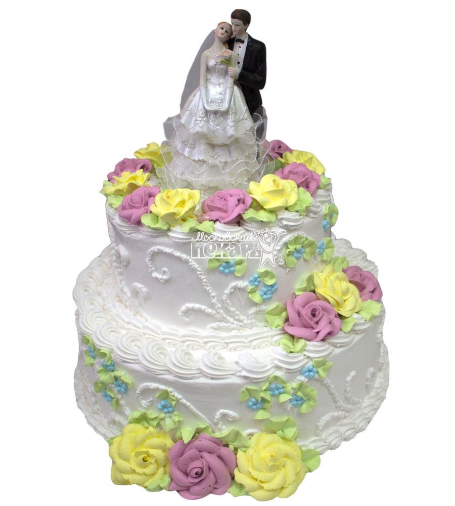 №652 Свадебный торт классический