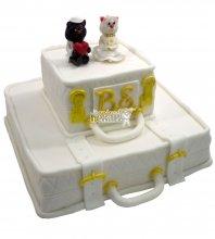 №653 Свадебный торт с кошками
