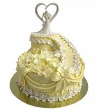 №654 Свадебный торт классический