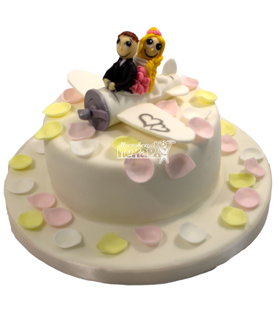 №663 Свадебный торт с самолетом
