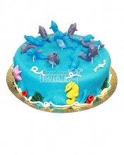 №051 Детский торт с дельфинами
