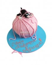 №072 Детский торт с котом