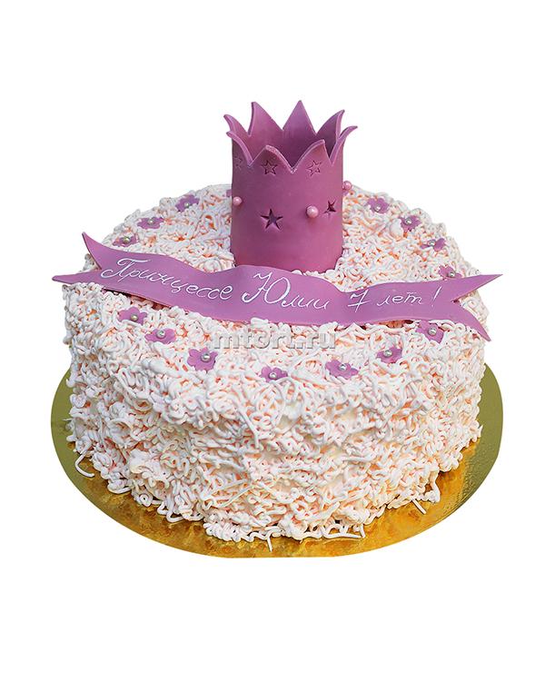 №076 Детский торт с короной