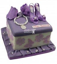 №077 Детский торт с туфельками
