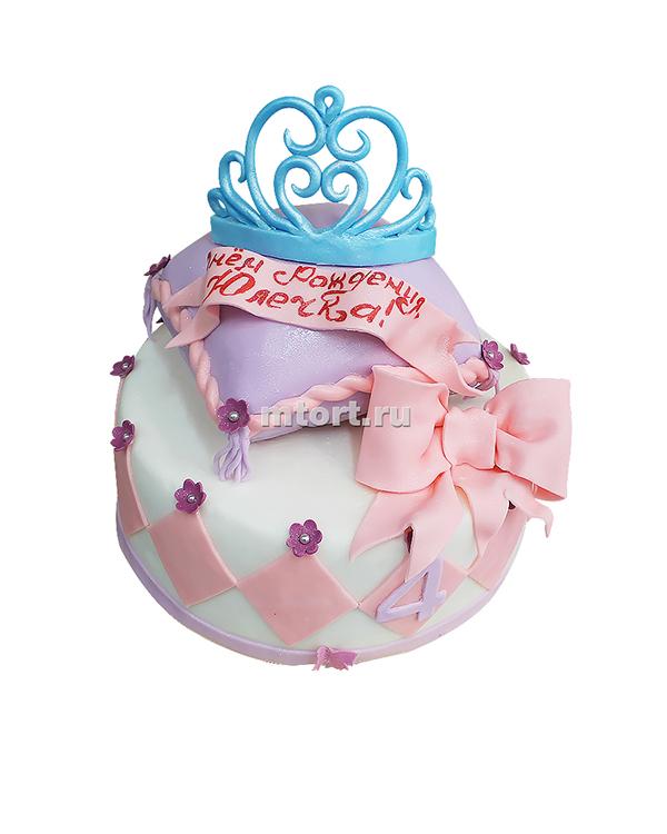 №078 Детский торт с короной