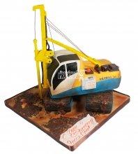 №124 3D Торт экскаватор