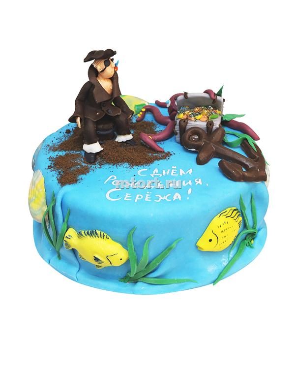 №166 Детский торт с пиратом