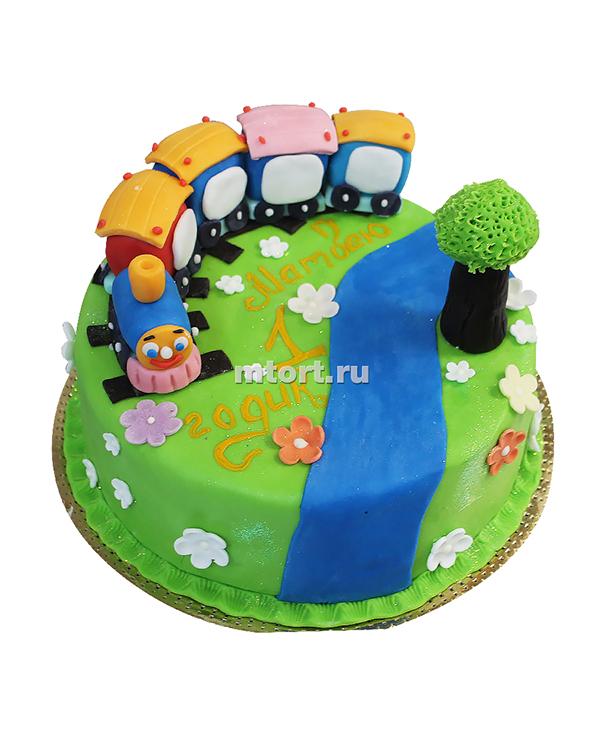 №170 Детский торт паровозик