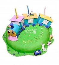 №822 Детский торт паровозик