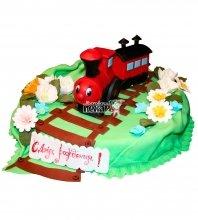 №823 Детский торт паровозик