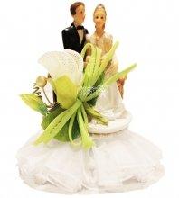 №838 Фигурка из полистирола жених и невеста 14 см