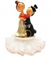 №839 Фигурка из полистирола жених и невеста 14 см