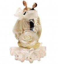 №844 Фигурка из полистирола жених и невеста 19 см