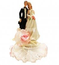 №847 Фигурка из полистирола жених и невеста 19 см