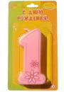 №892 Свеча Цифра 1 розовая 7см